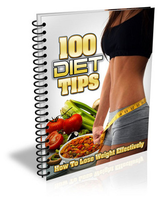 Product picture 100 Diet Tips  Mrr/Givaway Rights